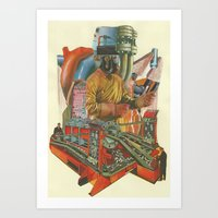 We Penetrated Deeper And… Art Print