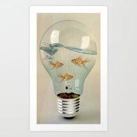 IDEAS AND GOLDFISH 03 Art Print