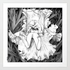 asc 566 - La butineuse (Seeking for sweetness) Art Print