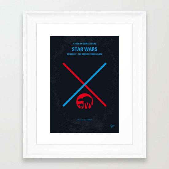 No155 My STAR Episode V The Empire Strikes Back WARS minimal movie poster Framed Art Print