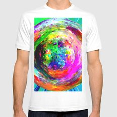marble III Mens Fitted Tee White SMALL