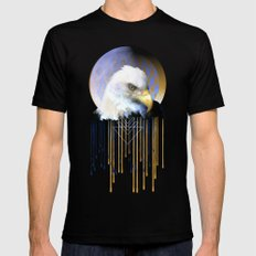 Wise Eagle Mens Fitted Tee Black SMALL