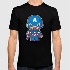 Captain Mens Fitted Tee Black SMALL