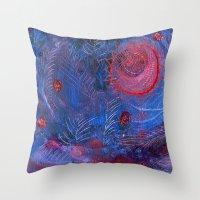 Blue Night Throw Pillow
