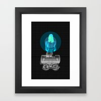 Traveling with loneliness Framed Art Print
