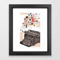 Paperback Writer Framed Art Print