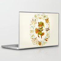 watercolor Laptop & iPad Skins featuring The Legend of Zelda: Mammal's Mask by Teagan White