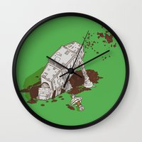 In A Backyard, Far, Far … Wall Clock