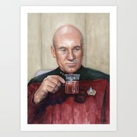 Captain Picard Earl Grey Tea | Star Trek Painting Art Print