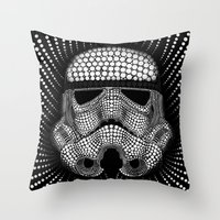 Trooper Star Circle Wars Throw Pillow