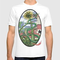 Dragons Unseen  Mens Fitted Tee White SMALL