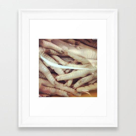 Chicken Fingers Framed Art Print