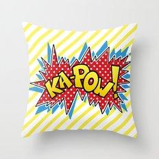 Ka-Pow Throw Pillow