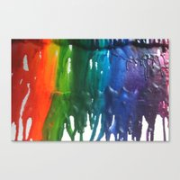 Canvas Print featuring Crayons by California English