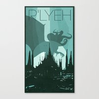 Every City Has Its Creature -R'lyeh Canvas Print