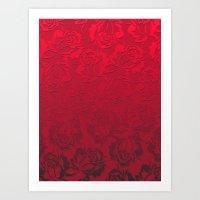 roses Art Prints featuring Roses by Klara Acel
