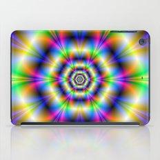 Neon Hexagons iPad Case