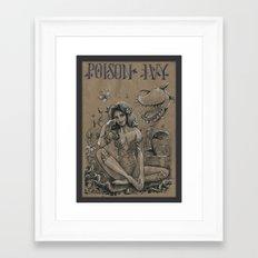 Poison Ivy (DRAWLLOWEEN 24/31) Framed Art Print