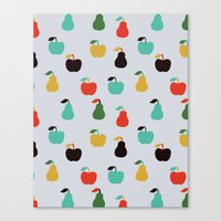 Apples + Pears Canvas Print