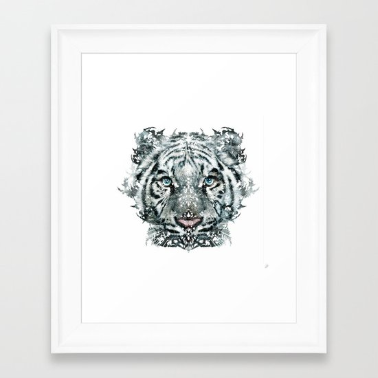 The White Tiger (Classic Version) Framed Art Print