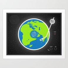 Music Makes The World Go Round Art Print