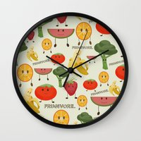 Fruity Collage Wall Clock
