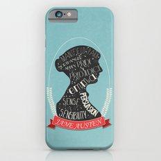 Jane Austen Silhouette Portrait iPhone 6 Slim Case