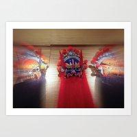 Masks Of Chinese Opera Art Print