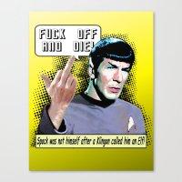 Spock.... Canvas Print