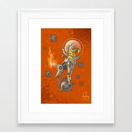 Astro Zodiac Force 07: Horse Framed Art Print