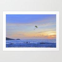 Sunset On Patong Beach Art Print