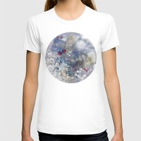 Water Bubble Womens Fitted Tee White SMALL