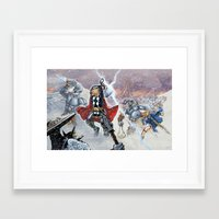 Thor and the Frost Giant War Framed Art Print