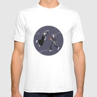 Game Name #6 Mens Fitted Tee White SMALL