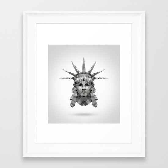 Polygon Heroes - Liberty Framed Art Print