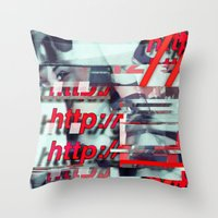 Glitch Decon 1 Throw Pillow