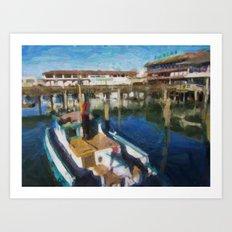 Fishermans Wharf - San Francisco Print No. 134 Art Print