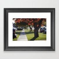Down Bokeh Lane Framed Art Print
