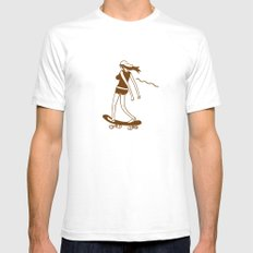 Surfin on a hot pocket White SMALL Mens Fitted Tee