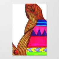 Canvas Print featuring Bad Sweater by SmallIslandInTheSun