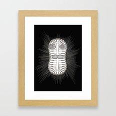 Diatom Face Framed Art Print