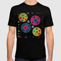 mixed shapes Mens Fitted Tee Black SMALL