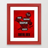 Martial Arts Gives Me Framed Art Print