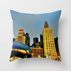 Chicago Bean Throw Pillow
