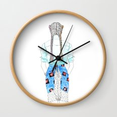Maya girl Wall Clock