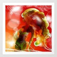 Sommermädchen Art Print
