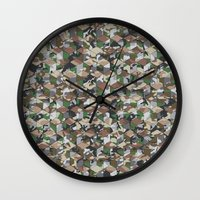 CUBOUFLAGE MULTI (SMALL) Wall Clock