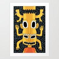 Cartoon Totem Art Print