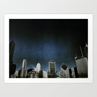 Chi Town Towers And Midn… Art Print