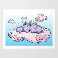 Cloud Nap Art Print